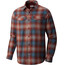 Columbia Silver Ridge Flannel Long Sleeve Shirt Men Deep Rust/Ombre